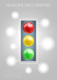 Plantilla con metaballs verde amarillo rojo efecto 3d