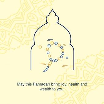 Plantilla de la mezquita de ramadán