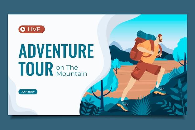 Plantilla de miniatura de youtube de aventura