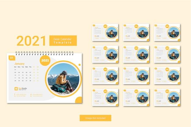 Plantilla mínima de calendario 2021