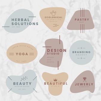 Plantilla mínima de colección de logotipos