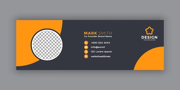 Plantilla mínima de firma de correo electrónico o pie de página de correo electrónico y diseño de portada de redes sociales