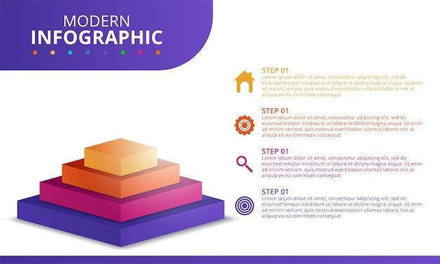 Plantilla mínima de infografías de negocios. ilustración vectorial