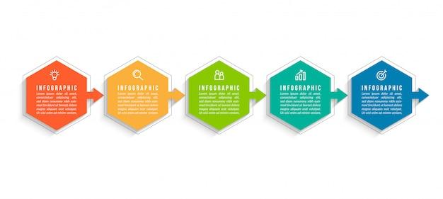 Plantilla mínima de infografías de negocios