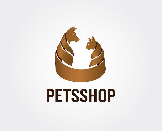 Plantilla mínima de logotipo de tienda de mascotas