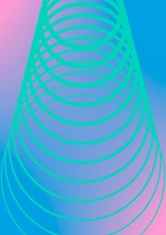 Plantilla mínima de portada de moda. diseño futurista con medios tonos. plantilla de portada mínima geométrica para libro, catálogo y anual. gradientes de colores minimalistas. ilustración de negocio abstracto.