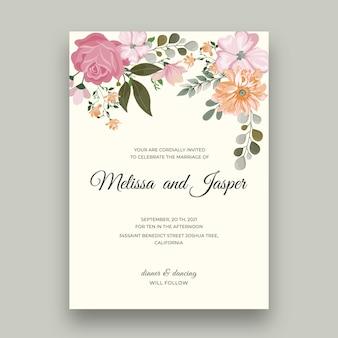 Plantilla mínima de tarjeta de boda