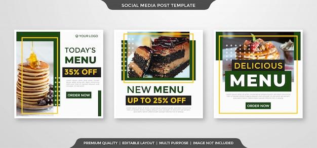 Plantilla minimalista de anuncios de publicación de instagram