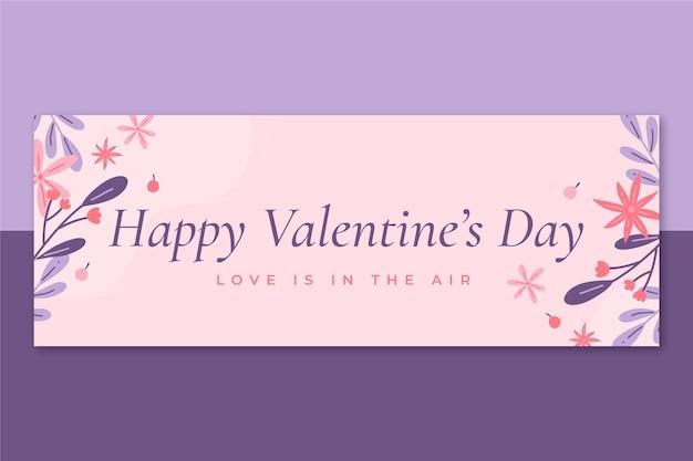 Plantilla minimalista de portada de facebook para el día de san valentín