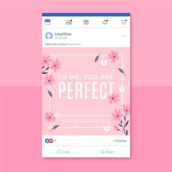 Plantilla minimalista de publicación de facebook de san valentín