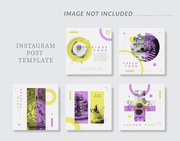 Plantilla minimalista de publicación de instagram en redes sociales para alimentos y gastronomía
