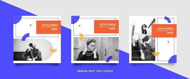 Plantilla minimalista de publicación en redes sociales