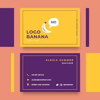 Plantilla minimalista para tarjeta de visita