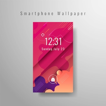 Plantilla de moda decorativa de fondo de pantalla de teléfono inteligente