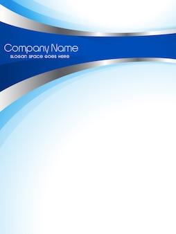 Plantilla modera azul de flyer empresarial
