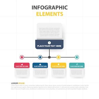 Plantilla modera infográfica de negocios