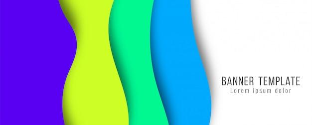 Plantilla moderna abstracta elegante papel corte banner
