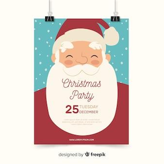 Plantilla moderna de cartel de fiesta de navidad