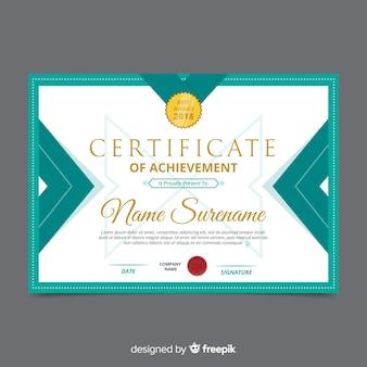 Plantilla moderna de certificado