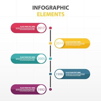 Plantilla moderna colorida infográfica
