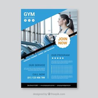 Plantilla moderna de folleto de gimnasio