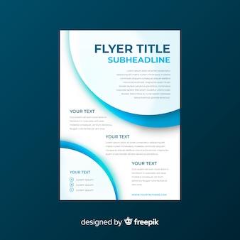 Plantilla moderna de folleto de negocios con diseño plano