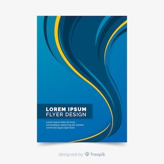 Plantilla moderna de folleto de negocios con formas abstractas