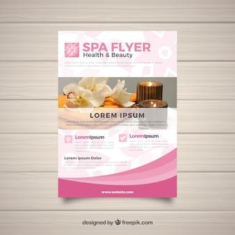 Plantilla moderna de folleto de spa