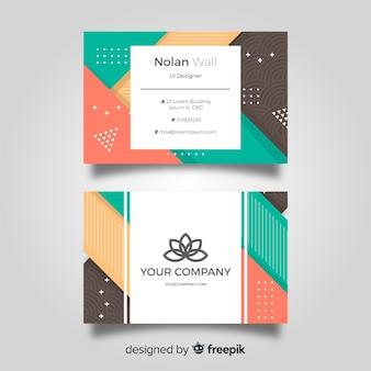 Plantilla moderna de tarjeta de negocios con geometría