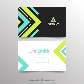Plantilla moderna de tarjeta de negocios