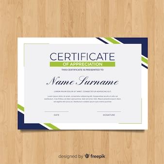 Plantilla moderna flat de certificado