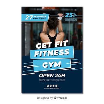 Plantilla moderna de folleto de fitness