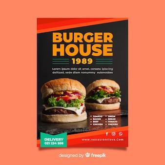 Plantilla moderna de folleto de hamburguesería