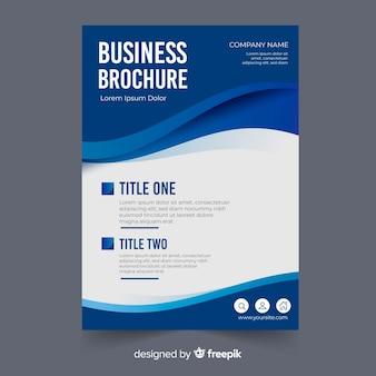Plantilla moderna de folleto de negocios con diseño abstracto