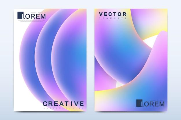 Plantilla moderna para folleto, prospecto, volante, portada, catálogo, revista o informe anual