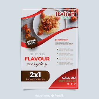 Plantilla moderna de folleto de restaurante italiano