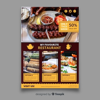 Plantilla moderna de folleto de restaurante