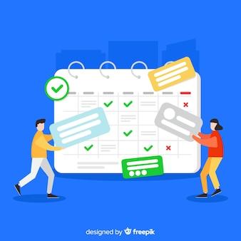 Plantilla moderna de horario de planificación