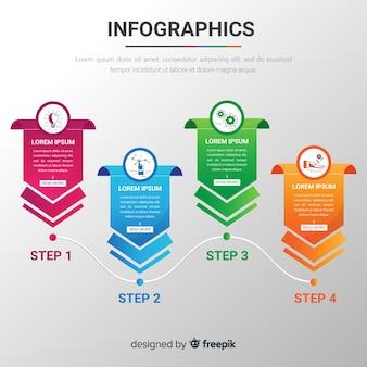 Plantilla moderna de infografía con estilo colorido