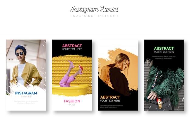Plantilla moderna de paquete de historias de instagram