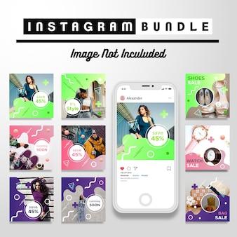 Plantilla moderna de la publicación de la moda de instagram