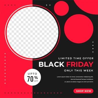 Plantilla moderna de redes sociales de venta de black friday
