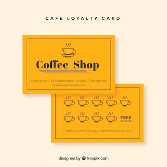 Plantilla moderna de tarjeta de cliente cafetería