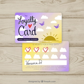 Plantilla moderna de tarjeta de cliente con estilo colorido