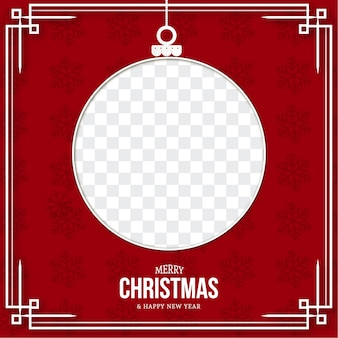 Plantilla moderna de tarjeta de feliz navidad