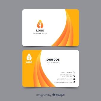 Plantilla moderna de tarjeta de negocios con diseño abstracto