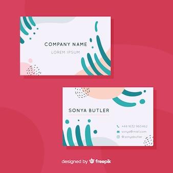 Plantilla moderna de tarjeta de visita con diseño abstracto