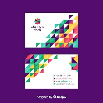 Plantilla moderna de tarjeta de visita con diseño geométrico