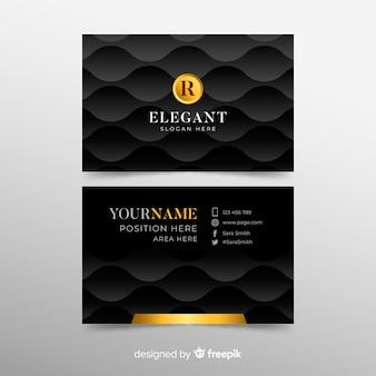 Plantilla moderna de tarjeta de visita con estilo elegante