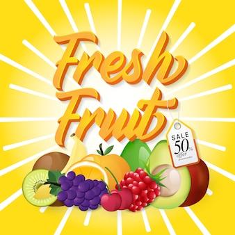 Plantilla moderna de venta de frutas.